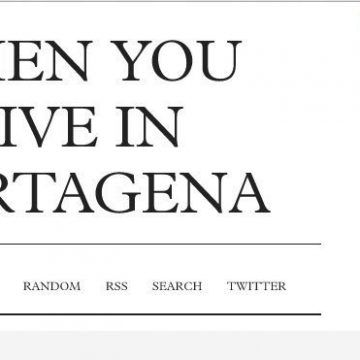 When you live in Cartagena…