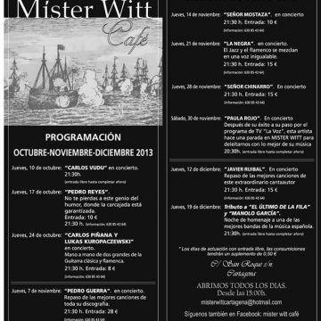 Conciertos en Mister Witt para 2013