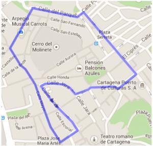 itinerario domingo de ramos cartagena